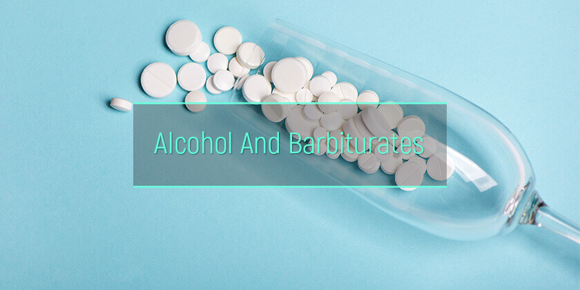 alcohol mixed with barbiturates