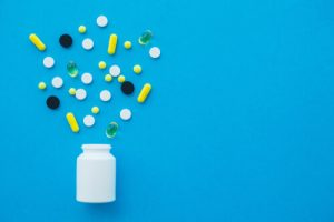 antibiotic pills and the bottle