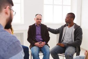 men-only alcohol rehab meeting
