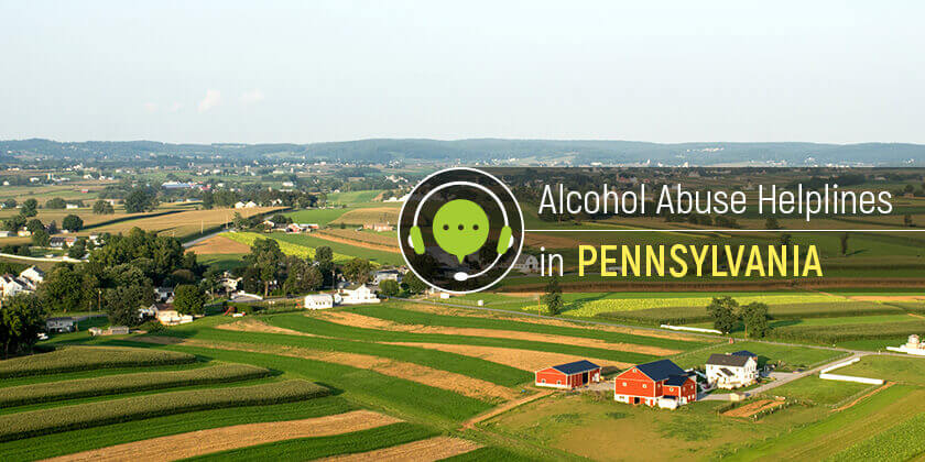 alcohol helplines in Pennsylvania