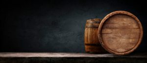 barrels with alcohol