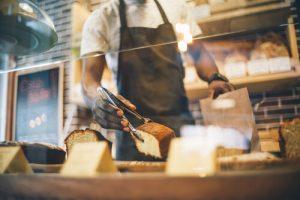 man working in bakery