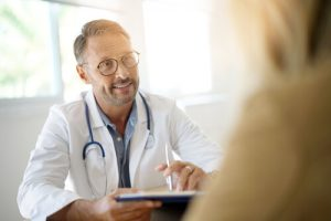 patient consulting with a doctor