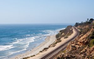 South California ocean beach view